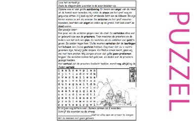Puzzel – Mattheüs 28 – Pasen, opstanding, soldaten, geen filmpje
