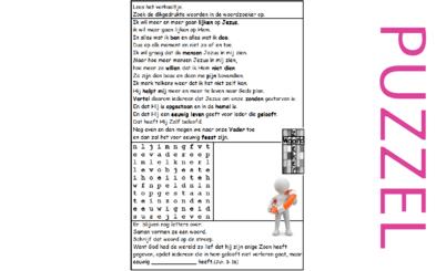 Puzzel –  Johannes 20 – Pasen, het paasevangelie (2), zie filmpjes paasdossier