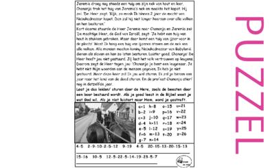 Puzzel – Jeremia 28 – Chananja bestraft, Gods wil doen