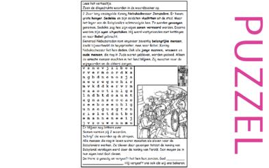 Puzzel – 2 Koningen 25, 2 Kronieken 36, Jeremia 39, 52 – Sedekia, Nebukadnezar, volk ballingschap, vergeving