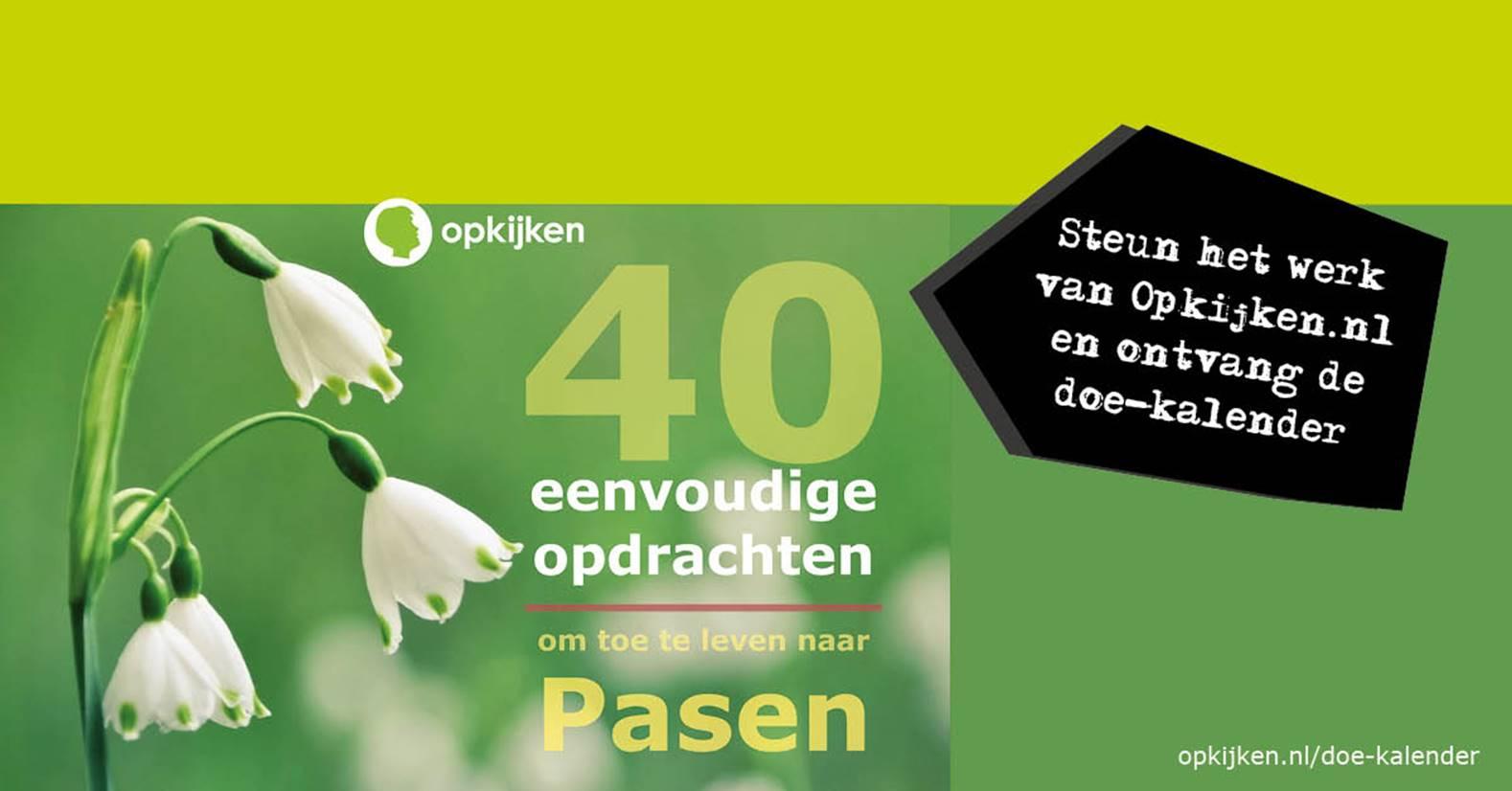Steun het werk van Opkijken.nl en ontvang de doe-kalender