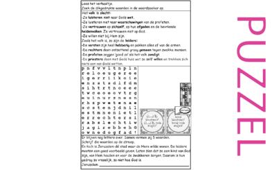 Puzzel – Sefanja 3 – slecht voorbeeld…..