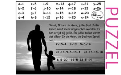 Puzzel – Joël 2 – Ik ben bij jullie, geen spot