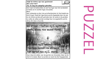 Puzzel – Joël 4, Ezechiel 38, 39, Zacharia 12, 14 – God de Rechter veroordeelt en straft de heidenen