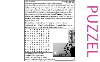 Puzzel – 2 Koningen 17, Jesaja 10, Nahum 1 – God en Assyrië