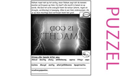 Puzzel – Nahum 1 – vertrouw op de machtige God