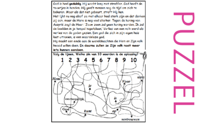 Puzzel – Nahum 1 – Gods geduld met Assyrië