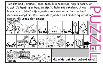 Puzzel – Klaagliederen 3 – Jeremia, straf mijn vijanden