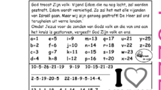 Puzzel – Klaagliederen 4 – straf vijand, belofte einde ballingschap, Jeremia