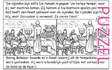Puzzel – Klaagliederen 1 – leedvermaak vijand, Jeremia