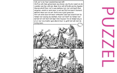 Puzzel – Klaagliederen 2 – voor God is er geen plaats meer, Jeremia