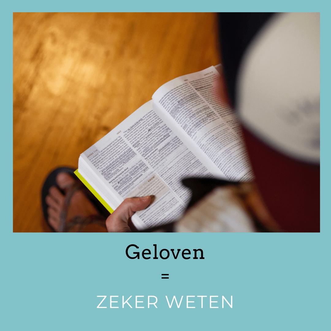 Geloven is zeker weten - bijbellezen met een sociale beperking